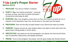 KickStarters for the 7-Up Prayer Challenge